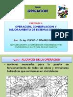operacion conservacion y mejoramiento de un sistema de riego