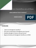 La Divulgación Cientifica en El Perú