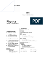 2014 Physics - Sydney Grammar Trial With Solutions