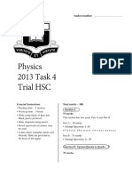 2013 Physics - Sydney Boys Trial With Solutions