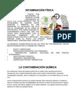 Contaminación Física Quimica y Biologica