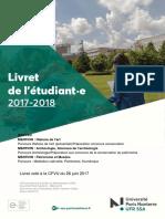 Livret Pe-dagogique Master Histoire de l'Art 2017-2018