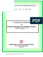 Food Processing and Quality Control NTVQ Level 1- 3