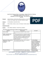LMU Board August 2, 2017 Minutes