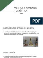 Instrumentos y Aparatos de Óptica. Semana1