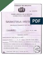 Caratula Notarial Del Testimonio Jeannine