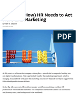 Why (and How) HR Needs to Act More Like Marketing
