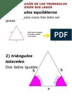 Clasificación de Los Triángulos Según Sus Lados