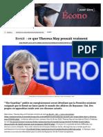 Brexit_ Ce Que Theresa May Pensait Vraiment, Europe
