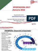 Ruta Exportadora Memoria 2016 2017 Memorias