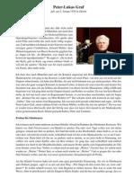 Peter-Lukas Graf erinnert sich an Karl Richter