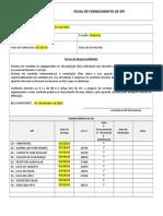 3- Ficha de Fornecimento de EPI