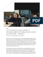 13 Things You Didn't Know About Deleuze and Guattari – Part I _ Critical-Theory.com