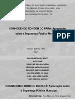 Analisando Rondon do Pará/PA