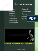 Decentralization and Local Governance for Discussion
