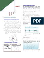 configuracion Electronica - QUÍMICA