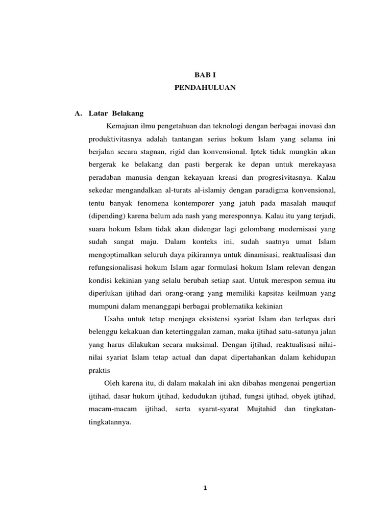 MAKALAH IJTIHAD Penegrtian Dasar Hukum Kedudukan Dan ...