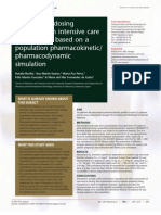 Vancomycin Dosing Assessment in Intensive Care Unit Patients Based on a Population Pharmacokinetic Pharmacodynamic Simulation