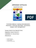 Contratos Atipicos Leasing y Factoring y Suministros