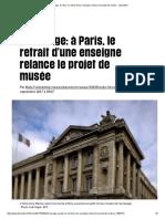 Esclavage_ à Paris, Le Retrait d'Une Enseigne Relance Le Projet de Musée - Libération