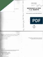 Peter Singer - Repensar la vida y la muerte.pdf
