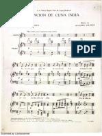 Cancion de Cuna India - Gilardo Gilardi - Partitura