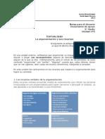 3ºMedio Leng. Unidad Nº3 Textualidad La Argumentación y Sus Recursos Guía Docente 2014