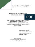 2005 Javier Estudio de Factibilidad Para La Implementacion de Un Cafe