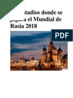 Estadios Mundial Rusia 2018