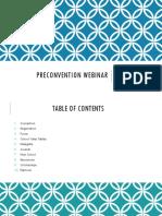 Preconvention Webinar Slide Show