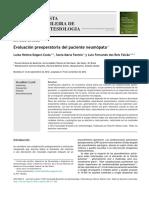 Evaluación preoperatoria del paciente neumópata