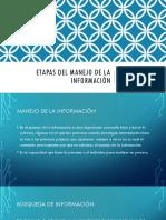 Etapas Del Manejo de La Información