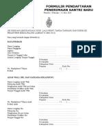 FORMULIR-PENDAFTARAN-PENERIMAAN-SANTRI 2014.doc