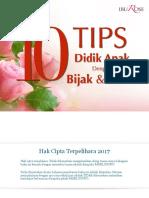 10 Tips Didik Anak Bijak & Sabar