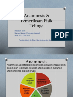 Anamnesis & Pemeriksan Fisik Telinga Nublah