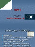 TEMA 6.- Delitos Contra La Libertad
