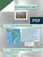 Fallas Tectonicas en El Peru