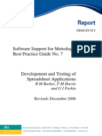 Development and Testing of Spreadsheet Application NPL