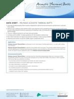 Polymax MDS Acoustic Thermal Batts Data Sheet