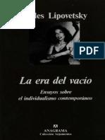 La era del vacío, Gilles Lipovetsky.pdf