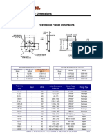 Wave Guide Flange Dimensions