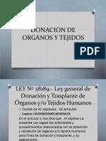 Donacion de Organos y Tejidos