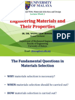 Lecture 1 L1b - Engineering Materials and Their Properties