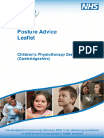 Posture Advice Leaflet Children