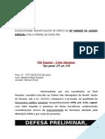 Defesa Preliminar Funcionario Publico Prevaricacao Denuncia Modelo 280 BC269