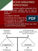 Coagulacion Sanguinea o Hemostasia