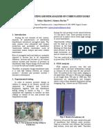 Experimental Testing and Fem Analysis of Corrugated Tanks