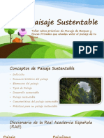 Conceptos de Paisaje Sustentable