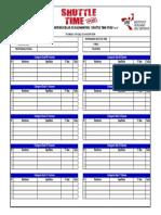 Formato Oficial de Inscripción - I Torneo Interescolar de Bádminton Shuttle Time Perú 2016