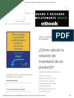 ¿Cómo Calculo La Rotación de Inventario de Un Producto_ – Gerencia Retail